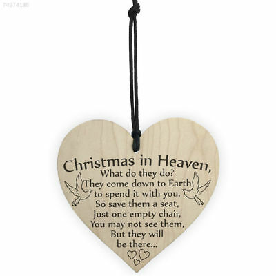 9382 Wooden Xmas Tree Ornament Christmas Wooden Hanging Christmas in Heaven
