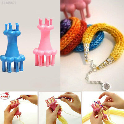 F4B4 Yarn Wool  Spool Loom Knitter DIY Crochet Hook Weave Knitting Rope Supplies