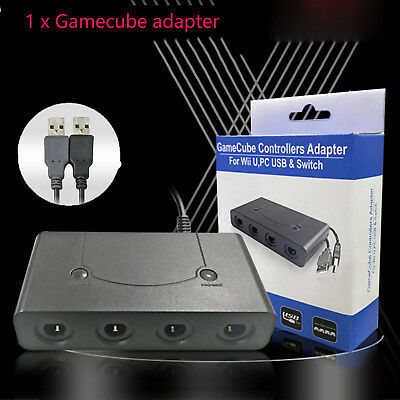 4 Port Gamecube NGC Controller Adapter For Nintendo Wii U & Switch & PC USB FS