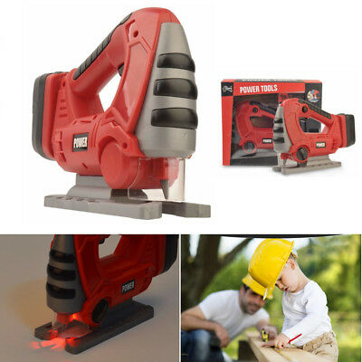 Kids Cordless Power Drill Boys Builders Scroll Saw Pretend Role Play DIY Toy Kit