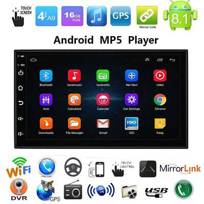 2Din 7in Android 8.1 WiFi  HD Quad Core GPS Navi Car Stereo MP5 Player FM Radio