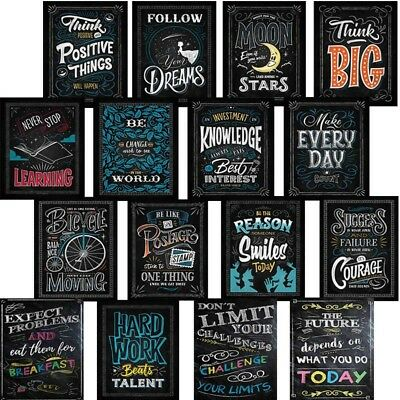 Motivational Classroom Wall Posters Inspirational Quotes Blackboard Decoration