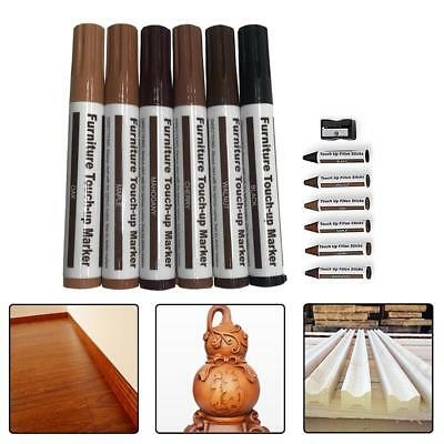 6X Furniture Touch Up Pen Markers Remove Scratches Laminate Wood Floor Repair