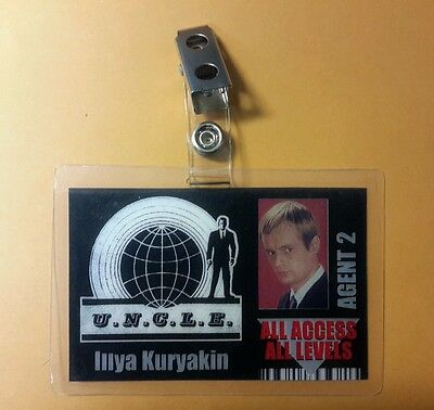 Man From UNCLE ID Badge-All Access Agent 2 Illya Kuryakin cosplay costume prop
