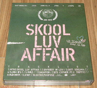 BTS Skool Luv Affair 2nd Mini Album K-POP CD + PHOTO BOOK + PHOTO CARD SEALED