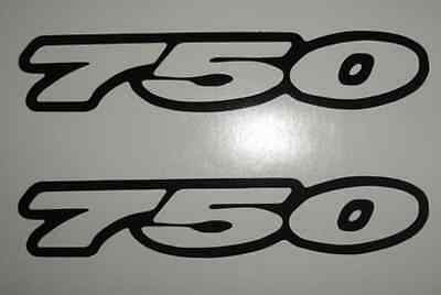 Suzuki Gsxr 750 Outline Sticker Decal (2)