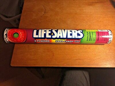 Life Savers Heavy Cardboard Tube Coin Bank With plastic Lid - 2016 pop art