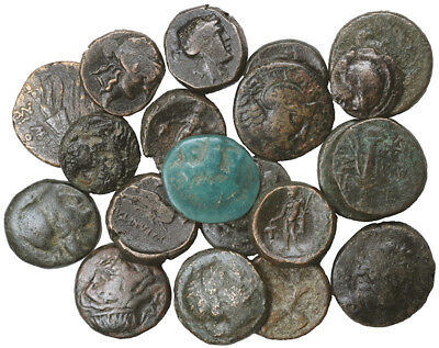 FORVM Lot of 20 Ancient Greek Bronze Coins
