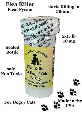 100 Capsules Flea Killer Dogs / Cats 2-15 lb 10Mg Control Vet recommended dosage