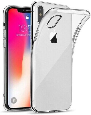 COVER per APPLE IPHONE XS Custodia Trasparente Morbida Silicone Ultra Slim TPU