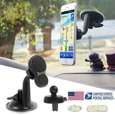 US Magnetic 360° Car Holder Windshield Mount for Mobile Phone iPhone Android GPS