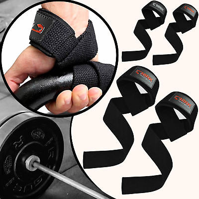 MRK Padded Weight Lifting Straps Bar DX Gym Gloves Wrist Support Training Power