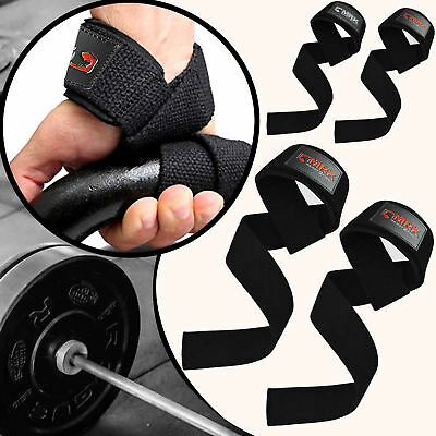 MRK Padded Weight Lifting Straps Training Gym Gloves Hand Wrist Wraps Support