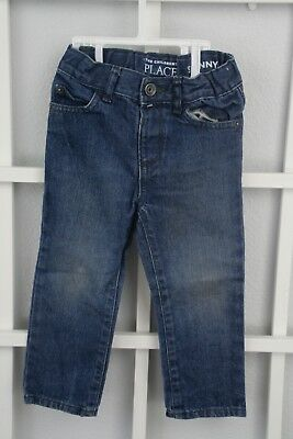 The Children's Place Boys Denim Skinny Jeans Size 2T 100% Cotton Adjustable