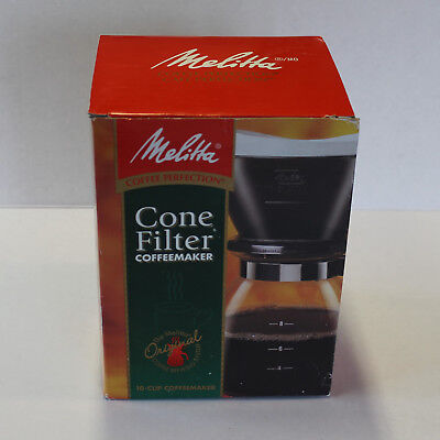 NEW MELITTA Cone Filter 10 Cup Coffee Maker - Pour Over Brewer, Glass Carafe Pot