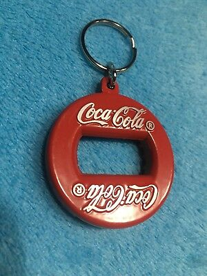 NOS Vintage Coca Cola heavy metal bottle opener key chain Canada Red 1960s 1.75""