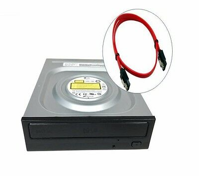 LG Internal SATA 24x DVD CD +/-R RW DL  Burner Re-Writer Drive Free Sata Cable