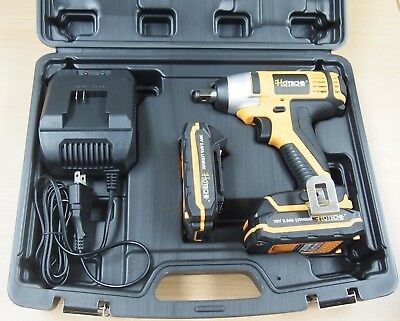 """Cordless Impact Wrench 20V 1/2"""" Dr. Led 2 Lithium Ion Batteries Quick Charger"""
