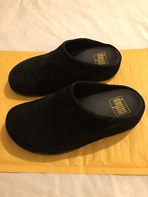d00aeb549569 Fitflop Micro Wobble Board Clogs Mules Slip On Black Shoes Size UK 6 Great  Cond
