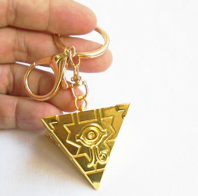Anime Yu-Gi-Oh! Millennium Puzzle Gold Metal Pendant Keychain Keyring Collection