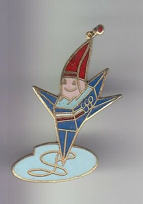 Rare Pins Pin's .. Olympique Olympic Albertville 1992 Mascotte Patinage Solo ~17