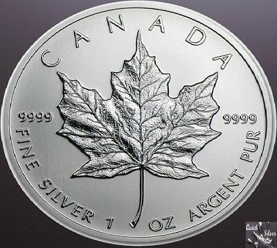 1 oz Canadian $5 Silver Maple Leaf **Brilliant Uncirculated & .9999 fine**