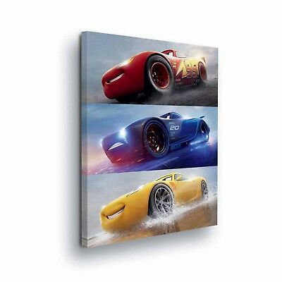 Disney Cars Canvas Lightning McQueen Art Prints 40x60cm large size NEW sealed