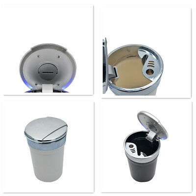 Portable Car Auto LED Cup Cylinder Holder Ashtray Travel Cigarette Smoke Remover