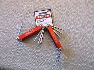 Craftsman (2) 7-in-1 Piece Fold-Up Hex Key Set Red, Standard & Metric 3952