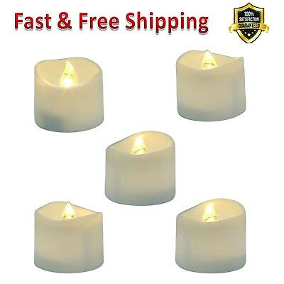 Flameless LED Tea Light Flickering Bulb Battery Operated Electric Fake Candle US