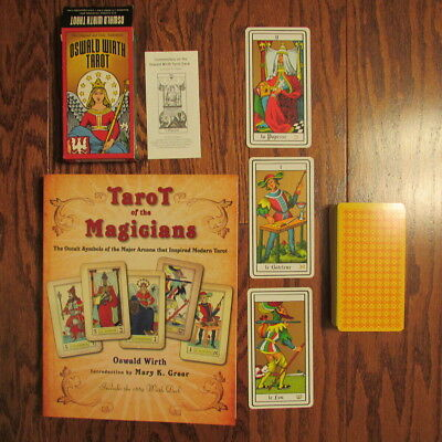 Tarot of the Magicians Book and Deck Set by Oswald Wirth - VERY GOOD CONDITION
