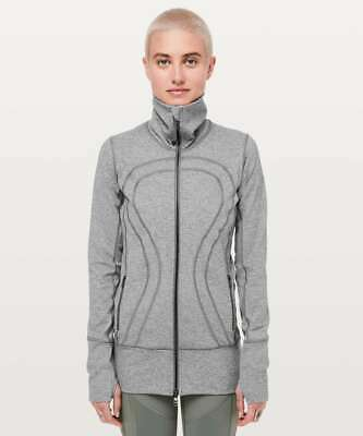 Lululemon Women's In Stride Jacket HSL Heathered Slate Grey
