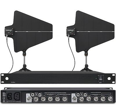 UHF Antenna Distributor AND Two Paddles Power Distribution System for shure mics
