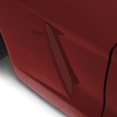 2005-2013 Corvette C6 MAGNETIC RED Painted Side Vent Grill Screens 634077086