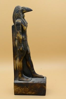 Vintage Egyptian Horus Statue Hand Carved Stone