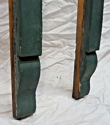 Two Victorian Style Wood Porch Corbel Brackets - C. 1910 Architectural Salvage