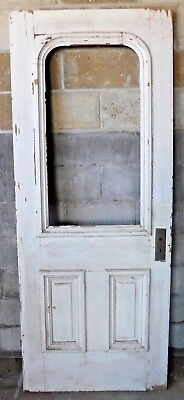 Antique Victorian Style Arch Top Entry Door - C. 1880 Architectural Salvage