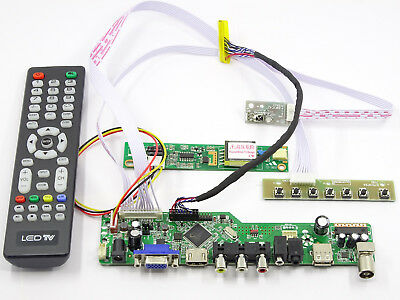 LCD LED screen Controller Driver Board Kit For LTN184KT01 TV HDMI+VGA+USB