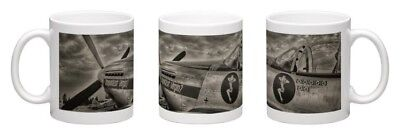 Impatient Virgin P-51 Mustang fighter plane coffee cup