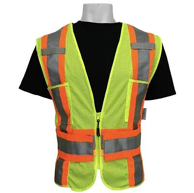 3M Class 2 High Visibility Reflective Safety Yellow Vest Medium Large X-Large XL