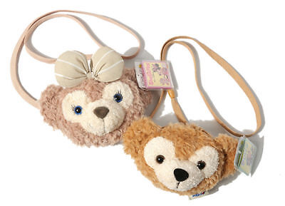2pc Tokyo Disney Duffy Bear ShellieMay Face Soft Shoulder Plush Toy Bag  Gifts f10340d3c96a2