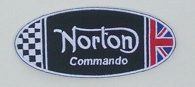 Norton Motorcycles Commando oval patch. 4 inch. NEW NICE