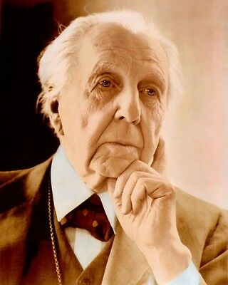 "FRANK LLOYD WRIGHT ACHITECT DESIGNER WRITER 8x10"" HAND COLOR TINTED PHOTOGRAPH"