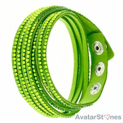 Women's Girl's Hot Faux Leather Snap Bracelet Wristband BL5V4E