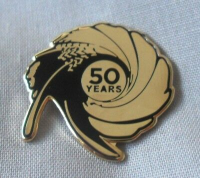 **NEW** James Bond 50th Anniversary pin badge. Skyfall, 007, Spectre, Moonraker