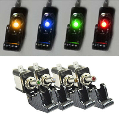 12VDC 20A Red LED Light Toggle Switch SPST ON/OFF For Car Truck Auto Boat