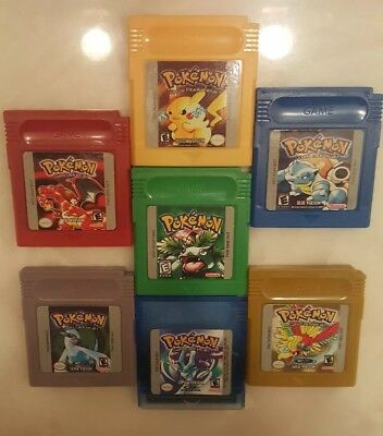 Pokémon GBC lot of 7 Ships fast! USA Gameboy Color Reproduction NEW