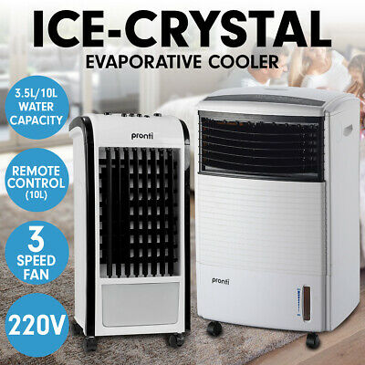 New Pronti Evaporative Air Cooler Portable Fan Conditioner Cool Mist Humidifier