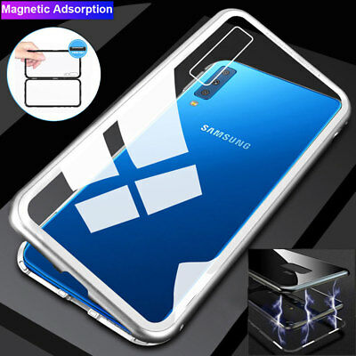 360 Full Cover Magnetic Adsorption Case for Samsung Galaxy A7 A9 2018/J4 J6 2018