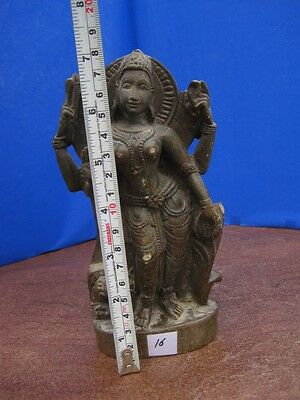 1900's Antique Old Rare Hand Carved Stone Collectible Religious Vintage Idol ~16